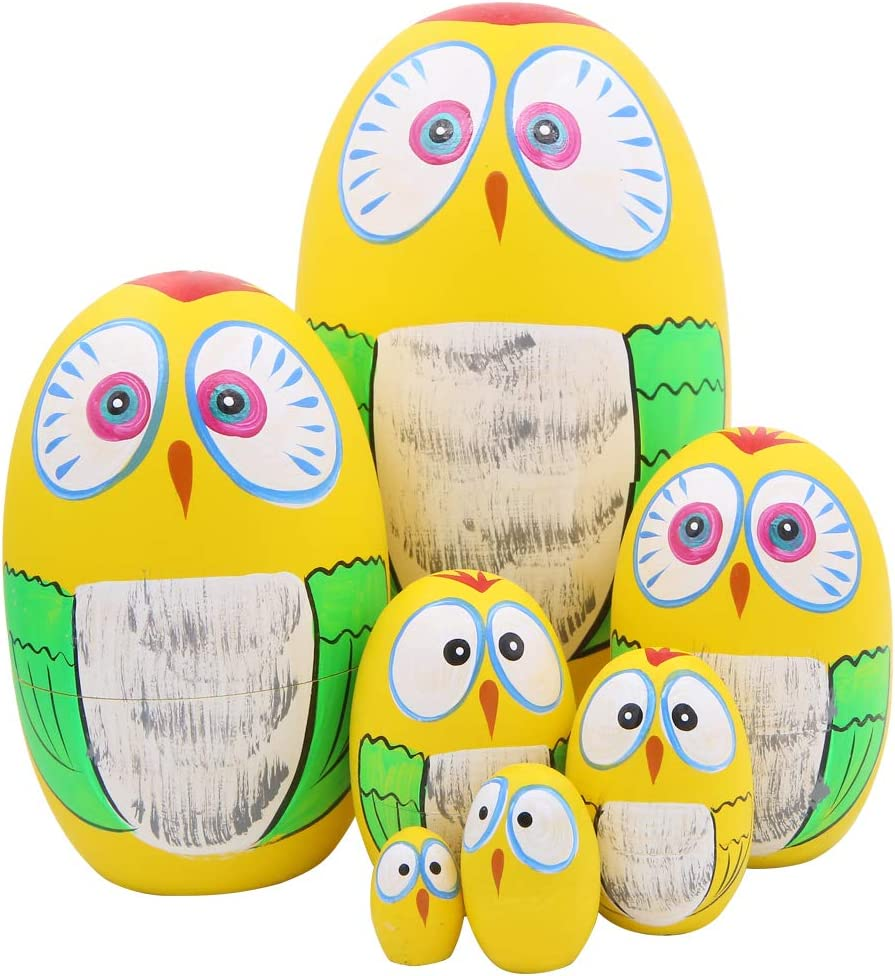 Sale Outlet sale feature special price Winterworm Set of 7 Pieces Lovely Owl Eggs Easter Nestin Russian