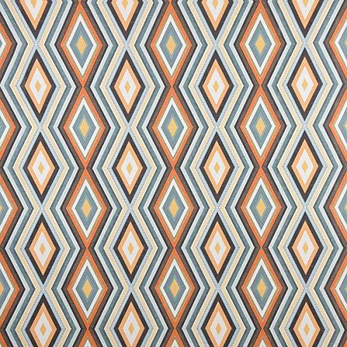 Clarke & Clarke STUDIO G Engels decoratieve stof bekleding stof geometrisch ethyno ruit crème kleurrijk 138cm breedte