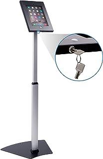 Mount-It! Secure Floor Stand for iPad | Height Adjustable iPad Floor Stand | Fully Adjustable Check-in Stand for iPad | Anti-Theft Tablet Floor Stand for iPad 9.7 (MI-3783)