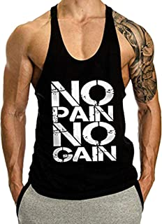 Chaleco para Hombres Impresión Deportivo Camiseta Sin Mangas de Tirante Sudadera Gimnasio Músculo Formación Túnica Tank Top