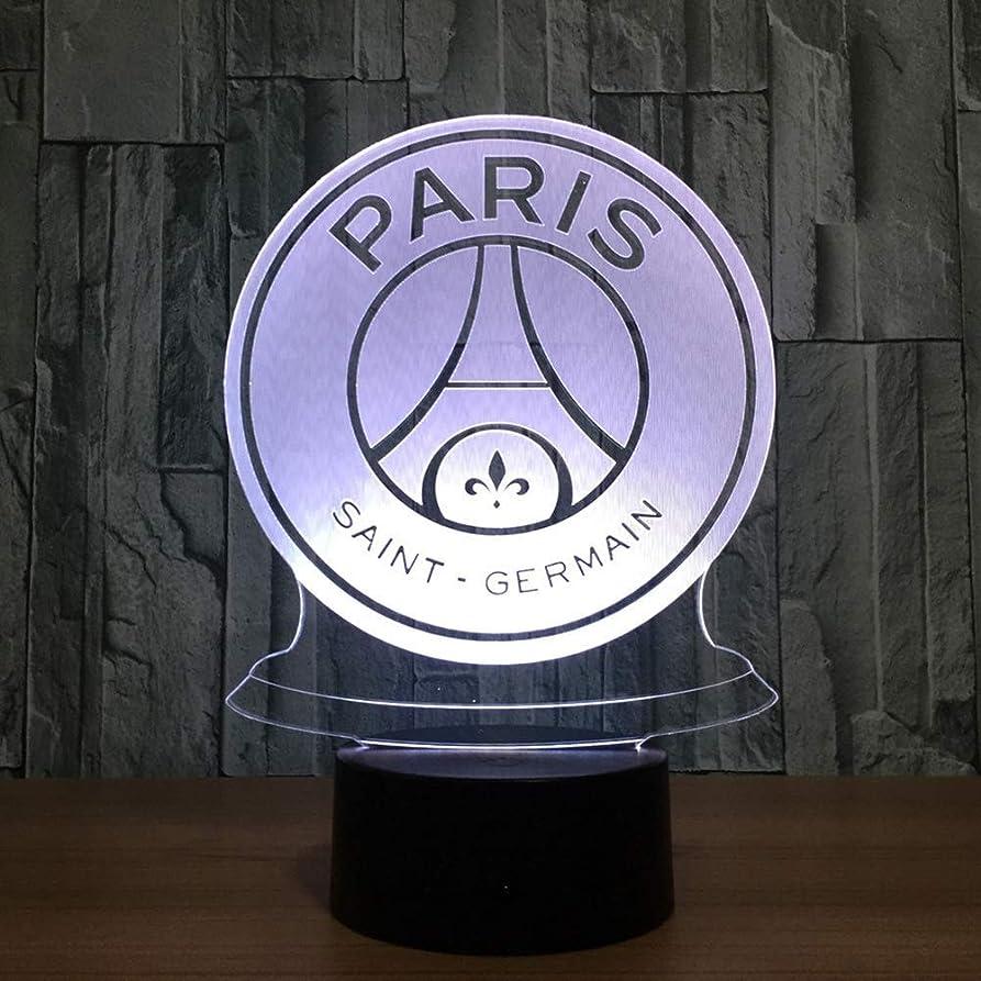 有益な試みる要旨夜の光 パリサンジェルマン3Dナイトライト/ LED省エネランプ、7色、ベッドサイドランプ、ブラックベース、タッチ/リモートコントロール、ベッドルーム、バーの装飾 夜の光 (色 : 5color+bluetoothaudio)