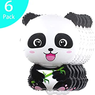 SFYDOM Panda Themes and Aluminum Foil Balloons, Animal Themed Party Favors, Panda Party Decorations Supply Polyester Film Balloon Panda Buckle.Birthday party,Nursery Bedroom Decor.