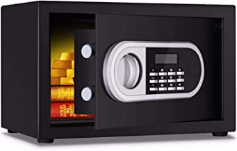 Electronic Digital Safe, Household Small Steel Safe, Office Property, Cash, Medicine and Jewelry Can Be Put Into The Wall ...