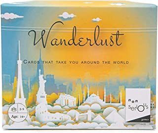 Nonserious Games Wanderlust: Travel Card Game | for Travel-Buffs | for Indoors & Outdoors | with Country Flags and Locatio...