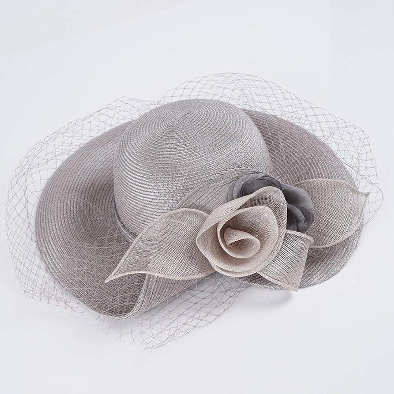 Lvdijidian Sun Hats Sun Hat Sunscreen Spring Summer Lafite Straw Hat Crimping Fashion Holiday Hat