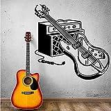 Tianpengyuanshuai Etiqueta de la Pared Guitarra eléctrica Etiqueta de la Pared Rock Pop Mural de la Pared Pintor Decorar Instrumento Musical Guitarra 50X50cm
