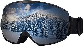 Ski Goggles - OTG Snow Goggles, Snowboard Goggles Anti-Fog 100% UV Protection for Men, Women & Kids