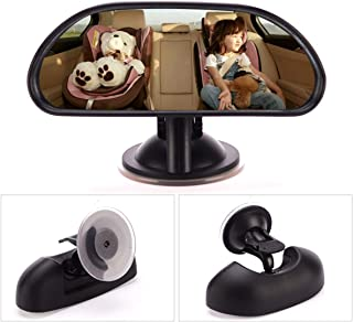 Baby Car Mirror Rear Facing Without Headrest,Assembled on Windshield Adjustable