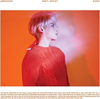 JONGHYUN of SHINee Poet ᛁ Artist with official folded poster & JONGHYUN photocard