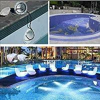 LEDスイミングプールライト交換用壁掛けプール水中スポットライト安全AC12V防水IP68水族館魚タンクガーデン池噴水ナイトライト3000K(色:18W)-9w iteration