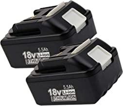 Sponsored Ad – 2Pack 5.5Ah BL1850 Replacement Battery for Makita 18v Battery, Lithium-ion Battery for 18v Makita battery B...