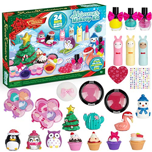 JOYIN 2020 Advent Calendar Kids Christmas 24 Days Countdown Calendar Toys for Girls with Little Figures Make Up Set