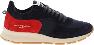 PHILIPPE MODEL Men's NTLUXN03 Blue Leather Sneakers