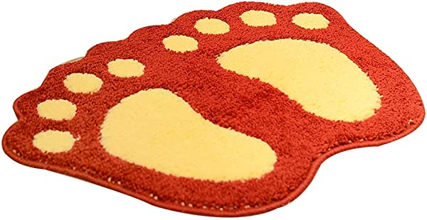Bath Mat Kids Bath Rugs Bathroom Household Carpet Non Slip Mat Carpet Door Mat Water Absorption Doorway Kitchen WC Bathroom Foot Pad WEIYV Color Red Size 4060cm
