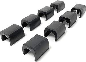 Design61 Klemschaal glijders 8-delige set stoelglijders vloerbeschermer Ø 15-17 mm Silencer meubelglijders