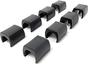 Adsamm Lot de 16 capuchons de chaise /Ø 22 mm pour tubes ronds /Ø 22-23 mm//noir//ron//rond//meuble pour chaises tubulaires en acier