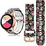 Jiali Taisong Band Compatible with Samsung Active 2 Watch Band 42mm Galaxy Active 2 Watch Band 44mm 40mm Silicone Sports Wristband Replacement Universal for 20mm (Skeleton)