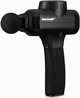 Rhinowalk Massage Gun-Handheld Percussion Deep Tissue Massager for Sore Muscle and Stiffness - Quiet, 5 Speed High-Intensity Vibration - Quick Rechargeable Device - Includes 5 Massage Heads (Black)