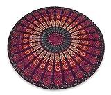 Indianbeautifulart – Alfombra decorativa, decoración mural, con diseño de mandala, diámetro 203, 2 cm