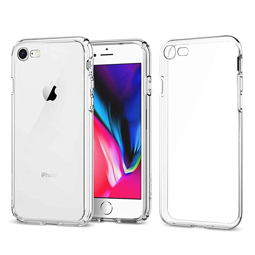 Airror Phone Case Compatible iPhone 8 iPhone 7 Cases Clear, Ultra Thin Clear Flexible Soft TPU, [ Support Wireless Charging ] Non-Slip, Protect Cover Clear Cases Slim Fit (for F0R iPhone 8/7) 830