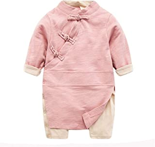 Fairy Baby Toddler Baby Boys Girls Chinese Cheongsam Buckle Romper Onesie Outfit