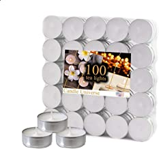Tea Light Candles 4 Hour Burn Time White Unscented. (4 Hour 100 Pack)