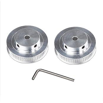 chiave inclusa diametro 12 mm per stampante 3D CNC 40 denti larghezza 6 mm Puleggia per cinghia dentata GT2 confezione da 4