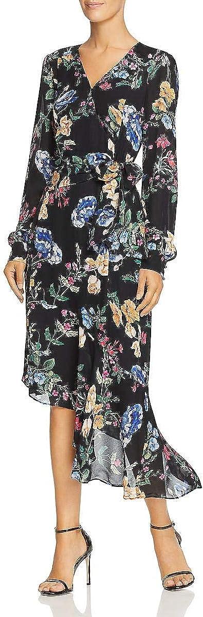 Parker Women's Lorelei Long Sleeve Faux Wrap Midi Dress