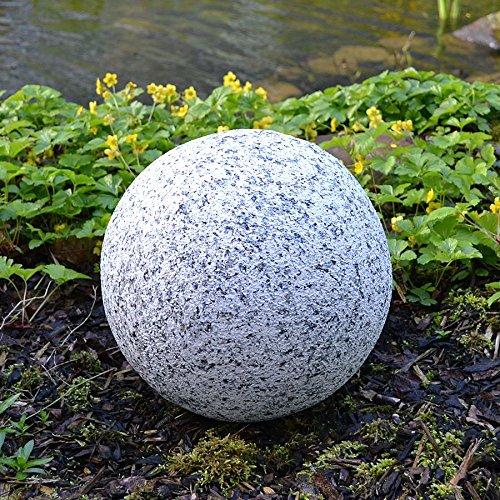 BURI Dekokugel in Granitoptik 30cm Gartenkugel Granitkugel Steinkugel Gartendeko Deko