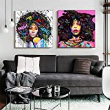 Graffiti Salon de Decoracion Colorido Arte Abstracto Retrato Mujer Potencia Cuadro Moderno Figura Figura Salon Recamara Poster Feminista Poster Feminista I14120