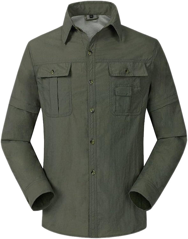 73ae01f296c2 Tortor 1bacha Men Outdoor Quick Dry Congreenible Short Long Sleeve Button  Up Shirt
