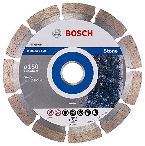 Bosch Professional Diamanttrennscheibe (für Granit und Naturstein, Ø: 150 mm, Zubehör für Winkelschleifer)