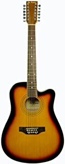 De Rosa 12 String Acoustic Guitar Tobaccoburst