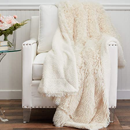 Twin Size 80X60 The Connecticut Home Company Luxury Faux Fur Bed Throw Blanket