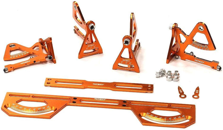 Integy RC Model Hop-ups C24014Orange Universal Setup Station System for 1 16 Traxxas, Most 1 10 Touring Car & Drift