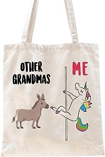 Ihopes Best Grandma Quotes Other Grandmas Me Reusable Tote Bag   Funny Other Grandmas Unicorn 100% Natural Cotton Tote Bag...