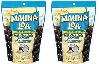 Mauna Loa Milk Chocolate Coconut Macadamias, 28-Ounce Package (2 Bags)