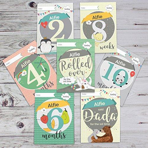 personnalisé Cartes de bébé : pour Milestone Moments