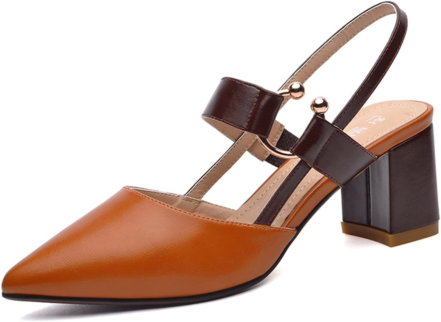 Lady,Summer,Tip Binding Sandals Rough With,Pointed,High Heel