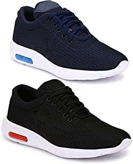 Shoefly Men Multicolour Latest Collection Sports Running Shoes- Pack of 2 (Combo-(2)-11067-1200)