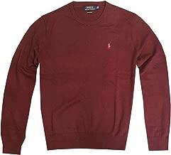 Ralph Lauren Polo Men's Pima Cotton Classic Crew Neck Sweater Pullover (X-Large, Maroon)