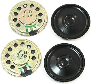 sourcing map 0,5W 45mm Diametro 8 Ohm Interno Mini Magnete Altoparlante 6pz.