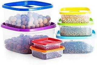 Ensemble de 7 conteneurs alimentaires transparents, organisateurs de stockage de cuisine pour réfrigérateurs et placards, ...