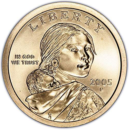 2005 P & D Satin Finish Sacagawea Dollar Choice Uncirculated US Mint 2 Coin Set