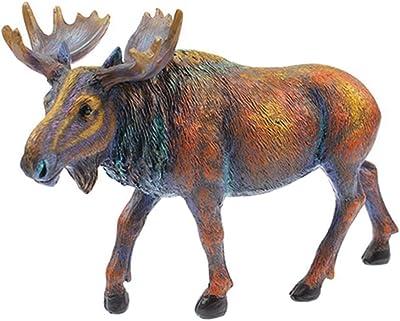 unison gifts Multi Color Moose Statue Figurine 8 Inch