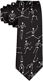 Men's Casual Party Ties, Business Meeting Wedding Suit Necktie, Cute Skeleton Dancing Tie