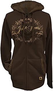 Ladies Hoodie Jacket with Faux Fur (Brown)(Small) - LP50000