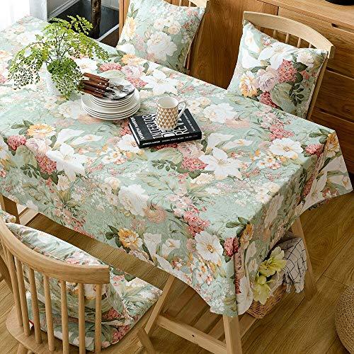 XXDD Mantel Rectangular Estampado Floral decoración de la Mesa del hogar Mantel de algodón encimera de Chimenea Estilo Floral A1 135x200cm