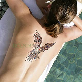 Baobaoshop 3 Piezas Etiqueta engomada del Tatuaje a Prueba de Agua Tatuaje de Pavo Real Tatuaje Arte Corporal Patas traseras Brazo Vientre Grande para Mujeres Hombres niñas