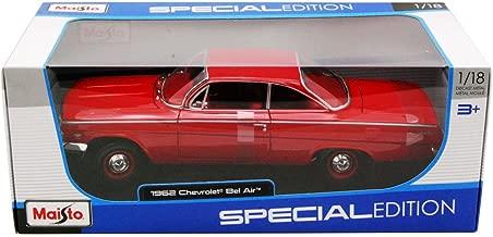 Maisto 31641 1962 Chevrolet Bel Air Red 1/18 Diecast Model Car